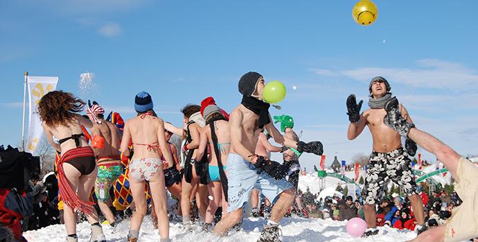 Carnaval no gelo em Quebec