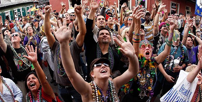 Mardi Gras festa em Nova orleans