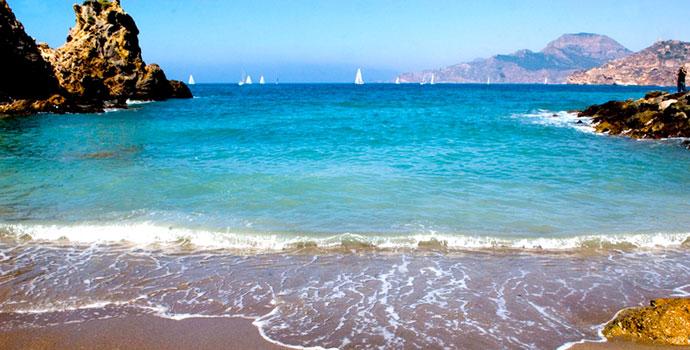 Praia na cidade de Cartagena