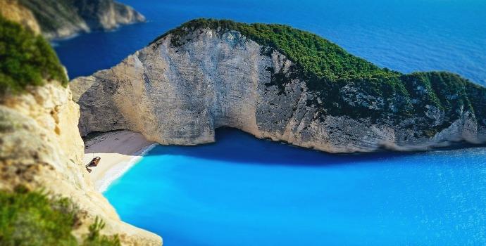 Navagio Beach na Grécia