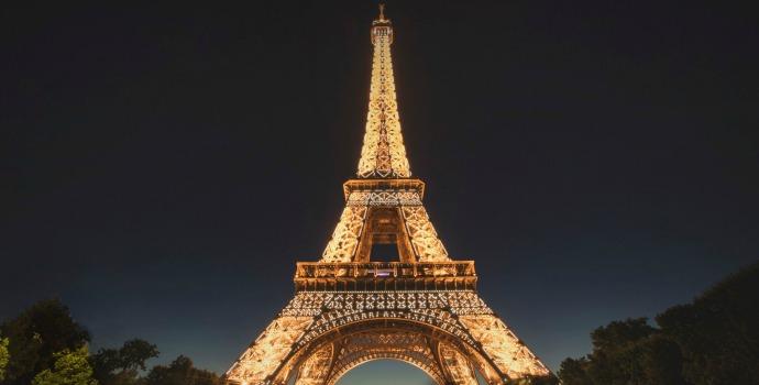 Cartão postal de Paris, a Torre Eiffel