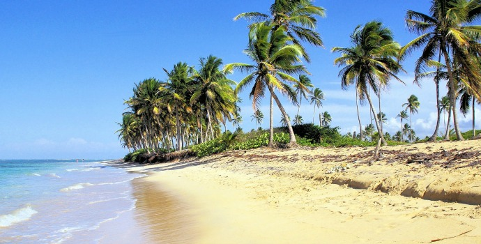 Praia de Bávaro na República Dominicana