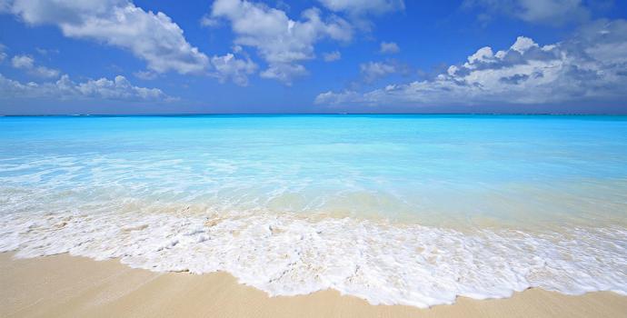 Grace Bay nas Ilhas Turcas e Caico