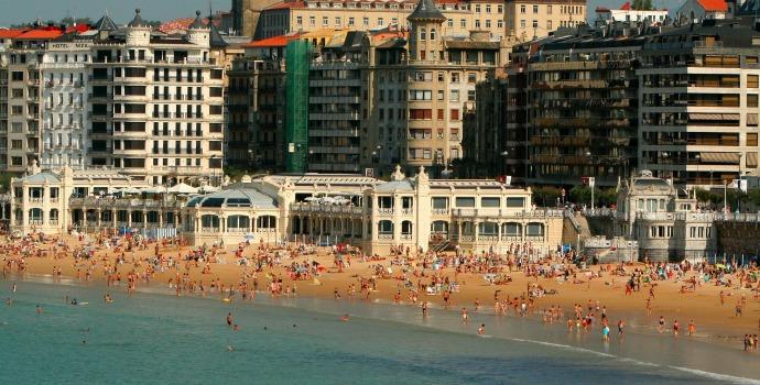 Praia de La ConchaLa Concha na Espanha
