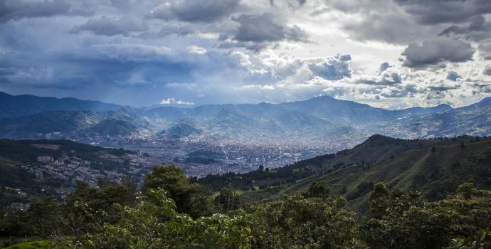 Vista da cidade de Medellin, Colômbia
