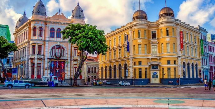 Praça do Marco Zero em Recife