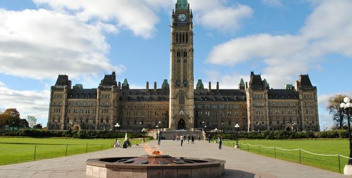 Praça do Parlamento em Ottawa