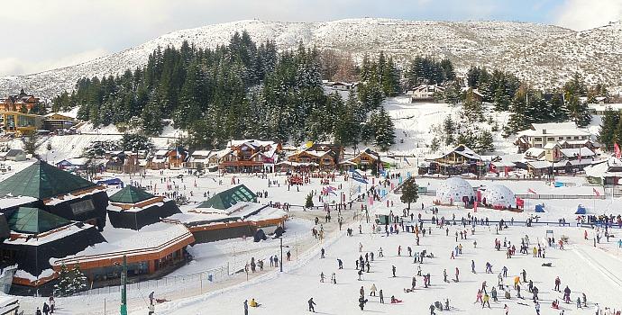 Bariloche durante época de esqui