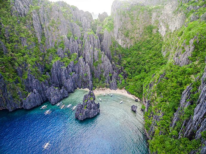 Cenários de tirar o fôlego no litoral das Filipinas