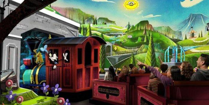 Foto da nova atração da Disney sobre o Mickey