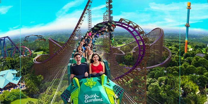 Foto da nova montanha-russa do Busch Gardens, em Tampa