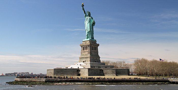 Foto da Estátua da Liberdade, em NY