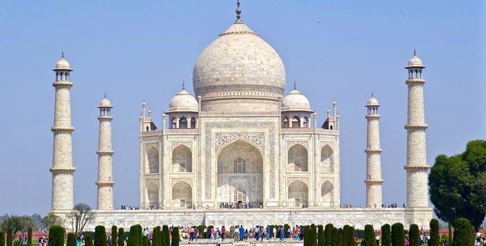 Foto do Taj Mahal, na Índia