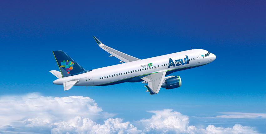 Foto avião da Azul