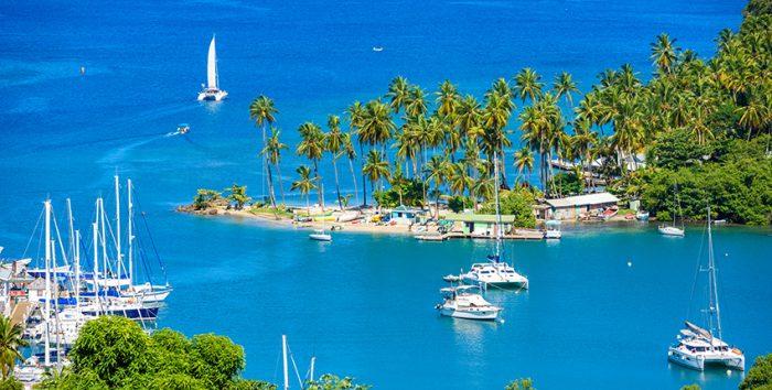 Foto de Santa Lúcia, no Caribe