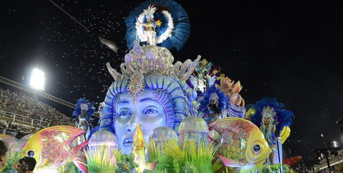 Foto de desfile de Carnaval no Rio