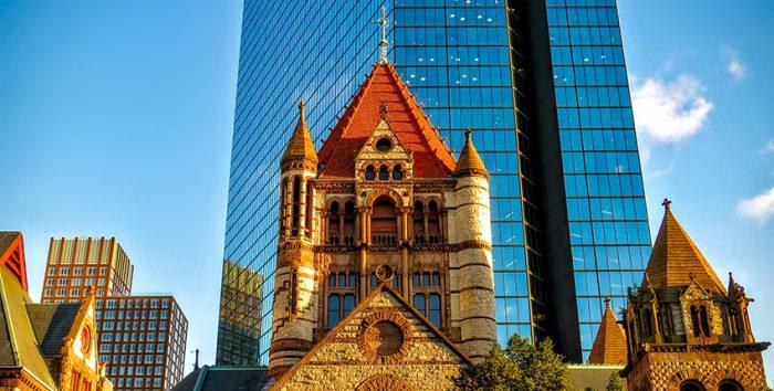 Fotoo da Trinity Church e da John Hancock Tower