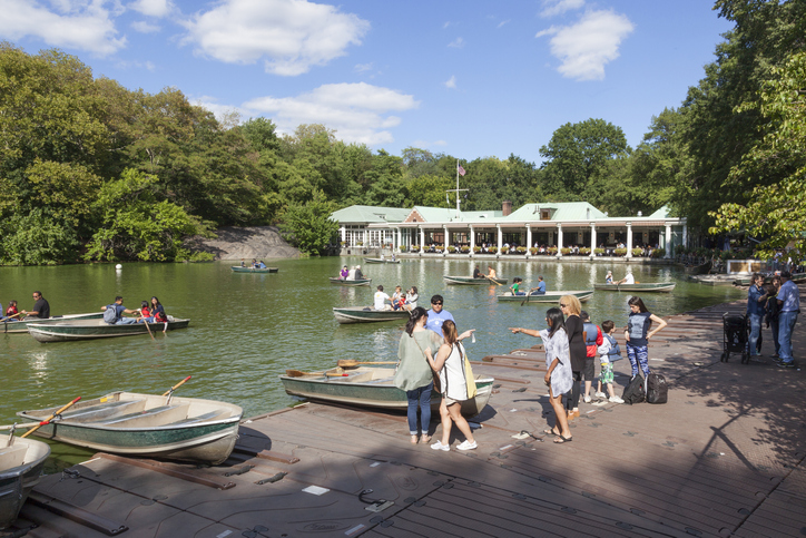 Você também pode fazer um passeio de barco no Central Park